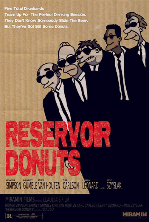 posters cinema simpsons - Reservoir Dogs