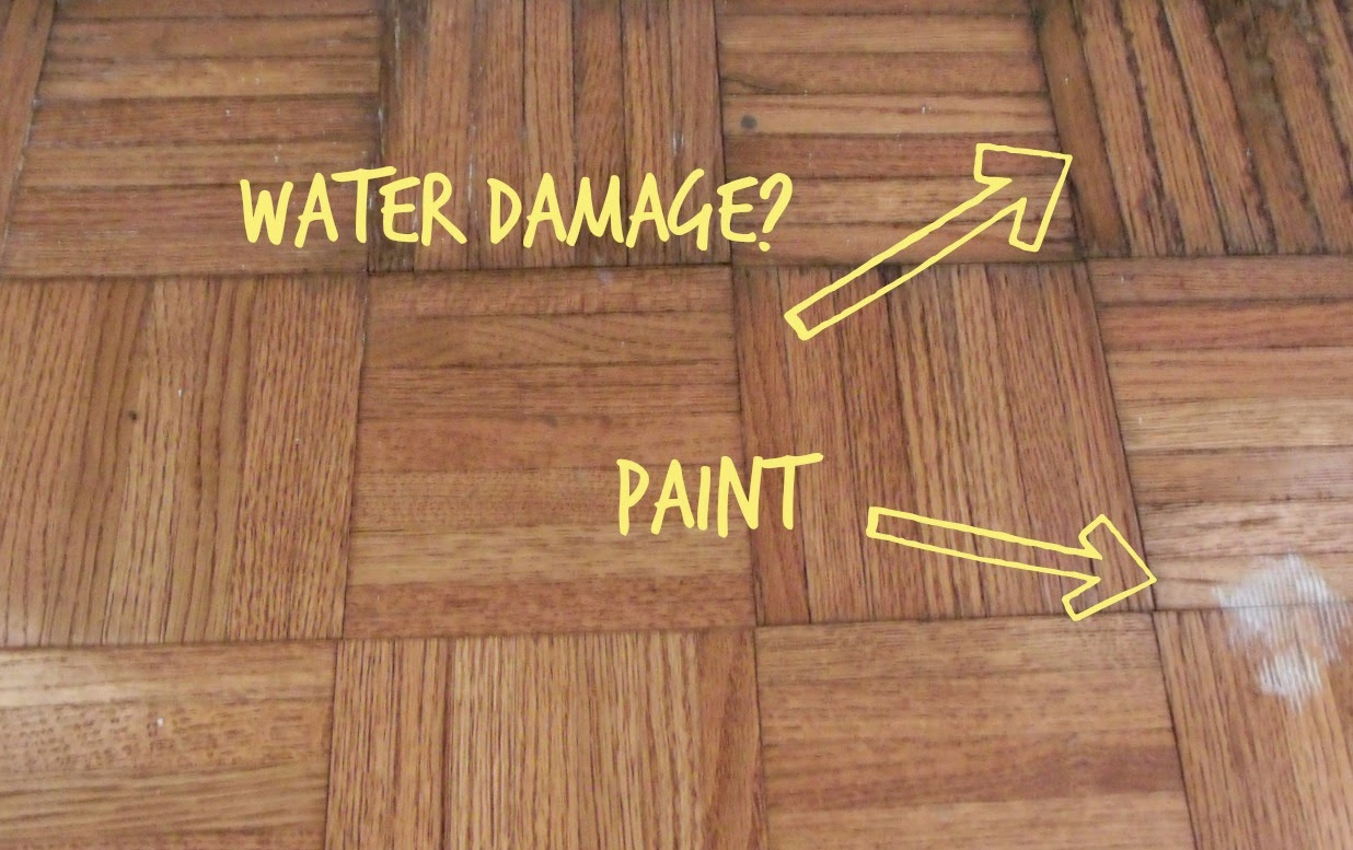 Cultivate Create Painted Parquet Floor - What to do with parquet flooring