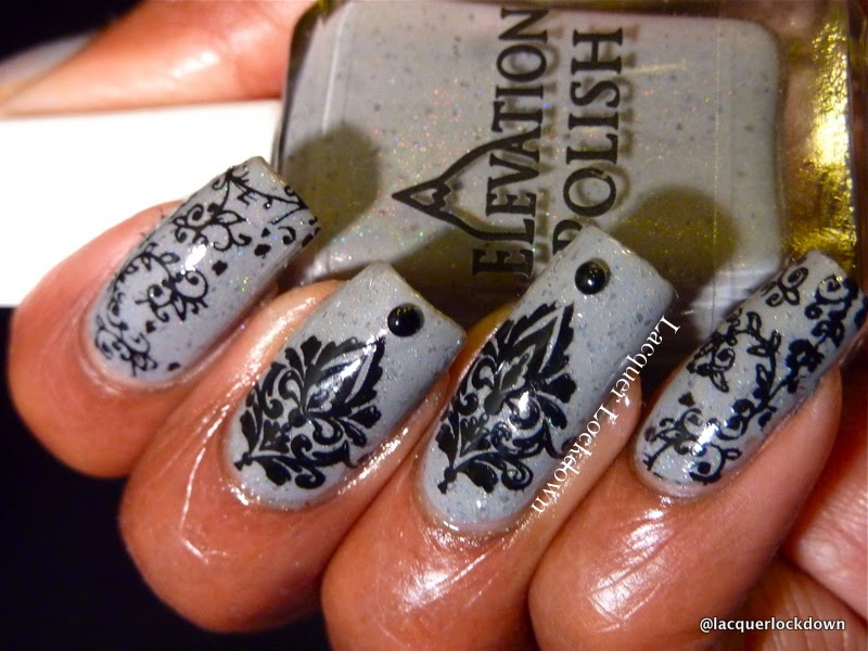 Lacquer Lockdown - Elevaiton Polish, Elevation Polish Forest Collection, nail art, nails, MyOnline Shop, MyOnline Shop Jr 15, Jr 15, cute nail art ideas, diy nail art, nail art stamping blog, nail art stamping, konad, M63, M64, Winstonia store, W02, MoYou London Pro 07 XL, Pro 04 XL, stamping
