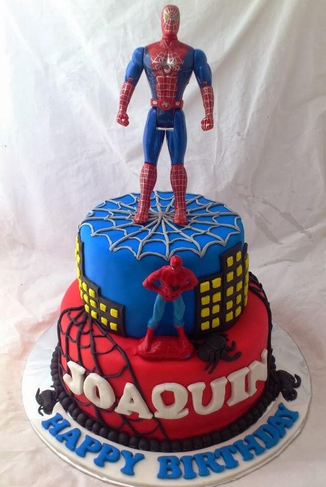Cake ulang tahun spiderman untuk joaquin modelminimalis info