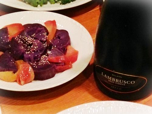 蒸かした紫芋とココナッツホットアップル