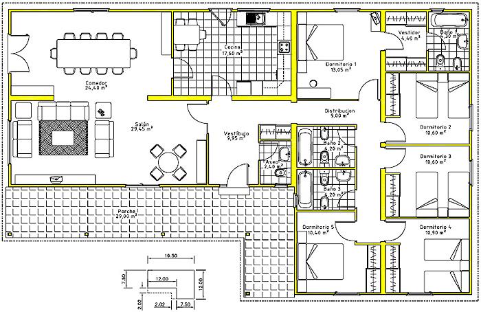Sesion 5 actividad individual panchitos creativos for Planos de viviendas de una planta