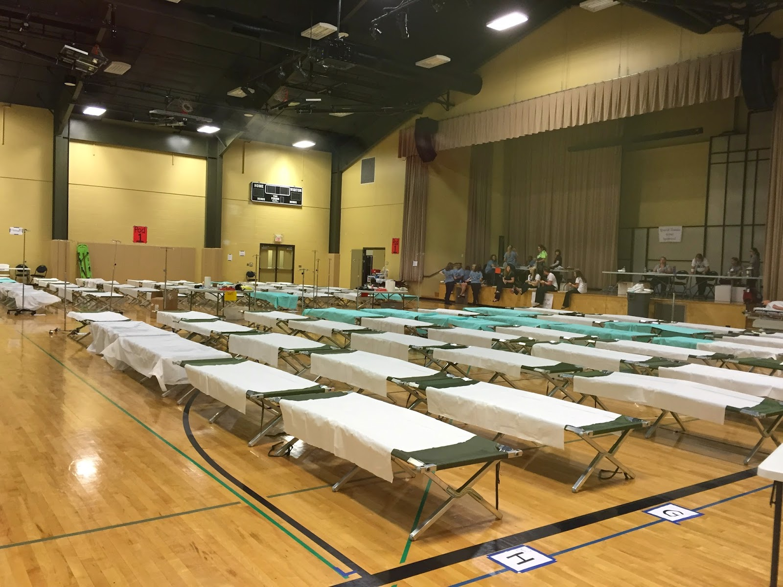 Gym set up as emergency overflow treatment center