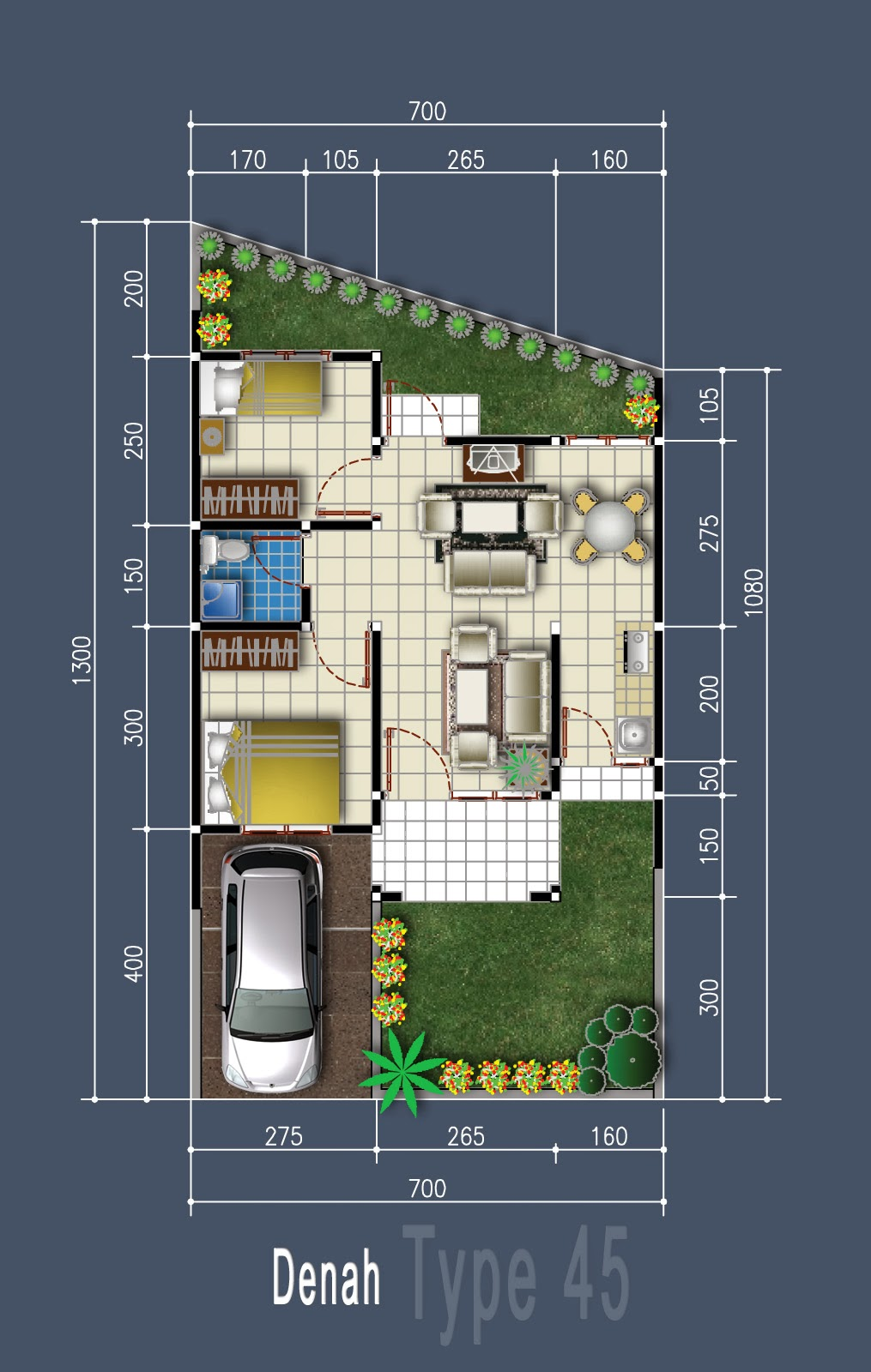 Minimalist house plan design type 45 info tazbhy for Minimalist house type 36