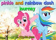 Raimbow Dash y Pinkie Pie Journey juego