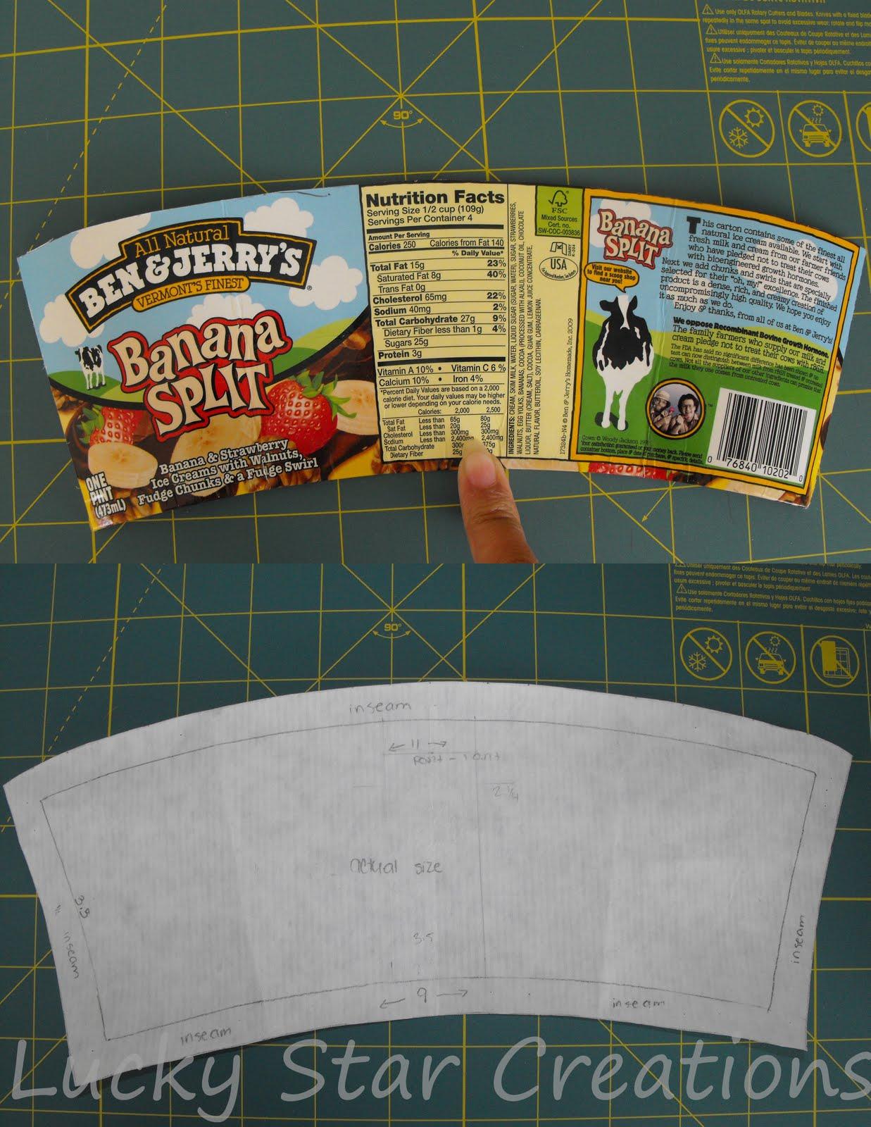 Lucky Star Creations: The Blog: Ice Cream Pint Holder
