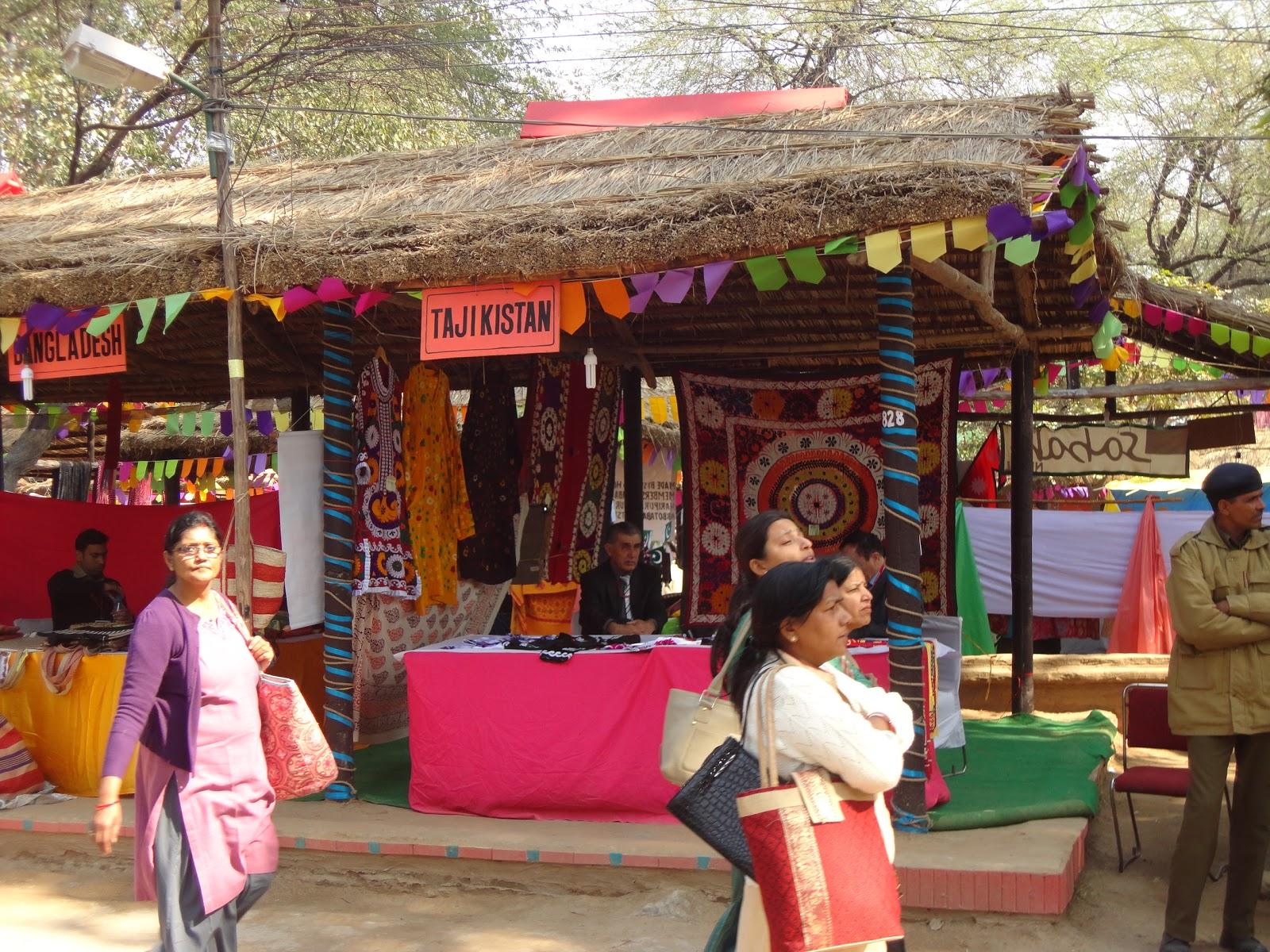 Tajakistan Stall at Surajkund Crafts Mela,India