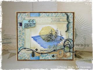 открытка в морском стиле