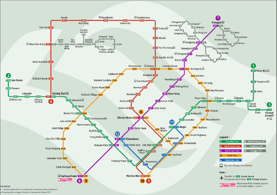 How To Read MRT Singapore Map I Am The Flashpacker - Easy to read world map