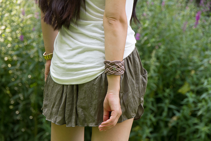Brazalete de cuero de Alexandra Plata