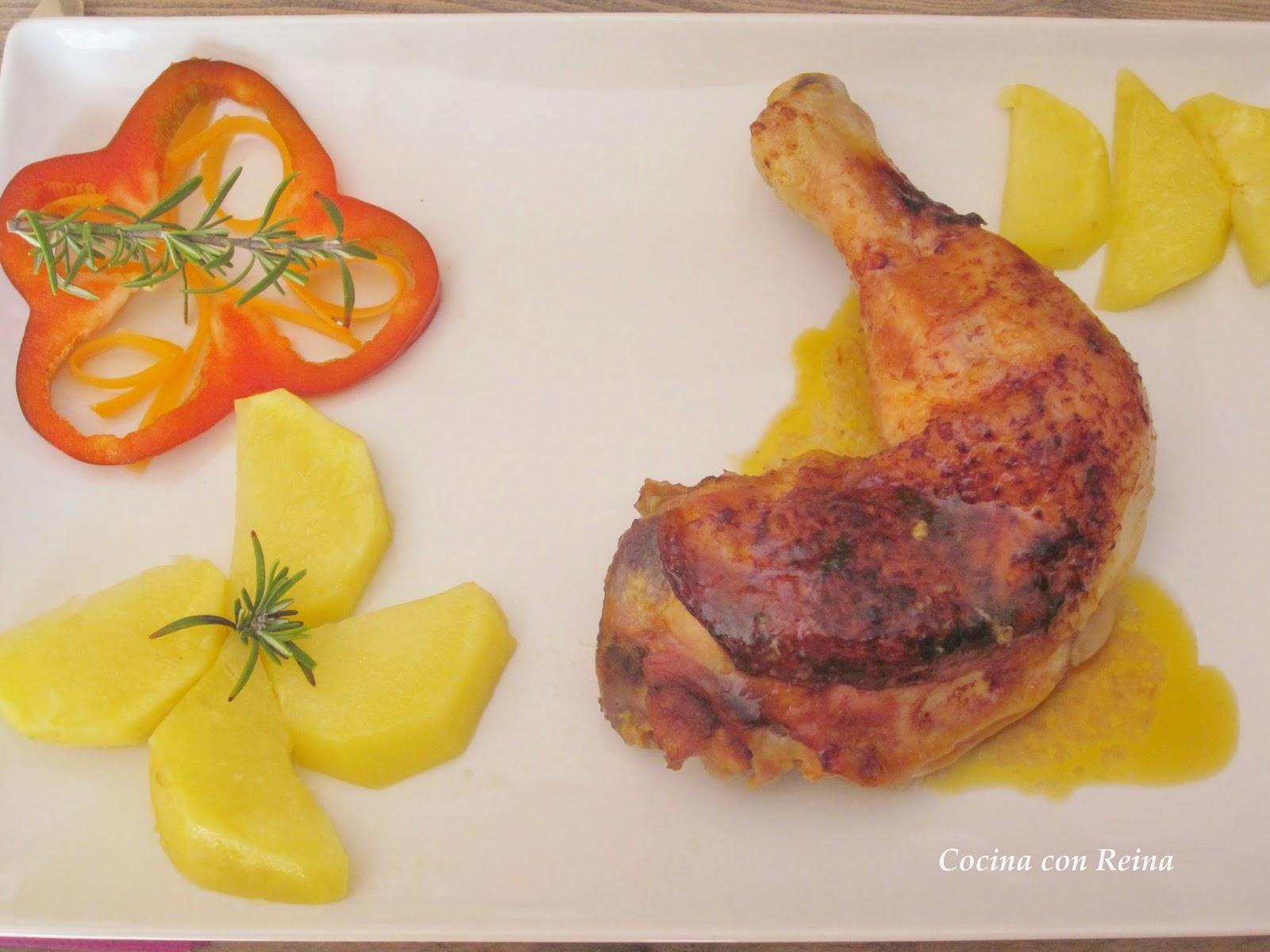 Pollo al horno en salsa de la abuela - Salsas para el pollo al horno ...