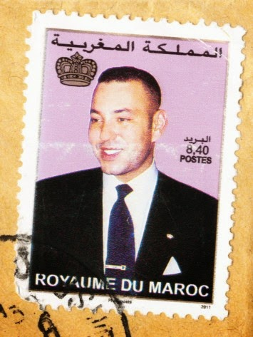stamp, king, morocco