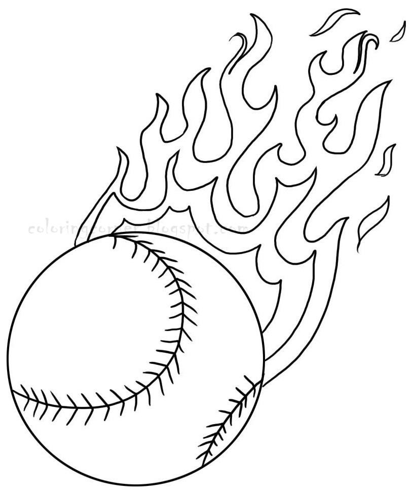 free coloring pages of baseball baseball bat