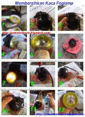 Membersihkan Embun Fog Lamp