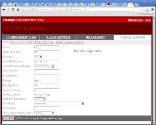 CENTOS Piranha Virtual Servers