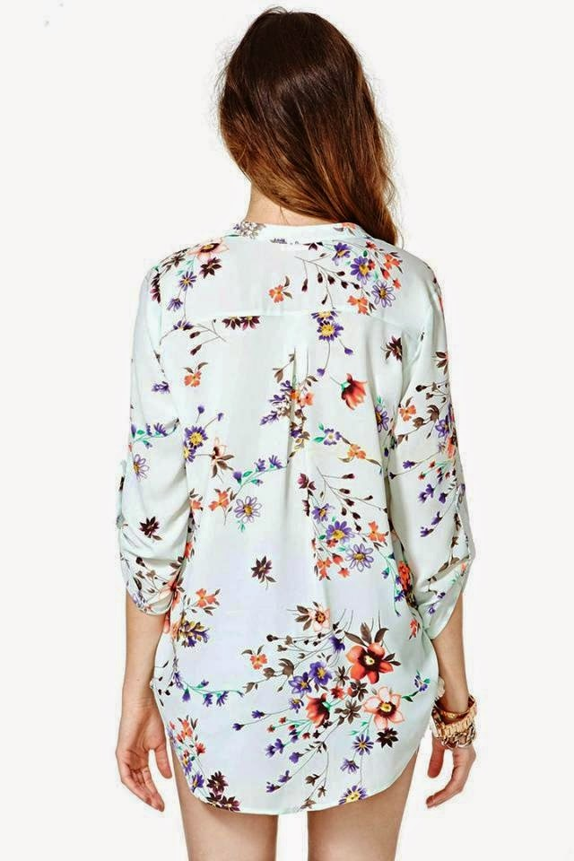 HG064 ASOS Inspired Floral Casual Shirt