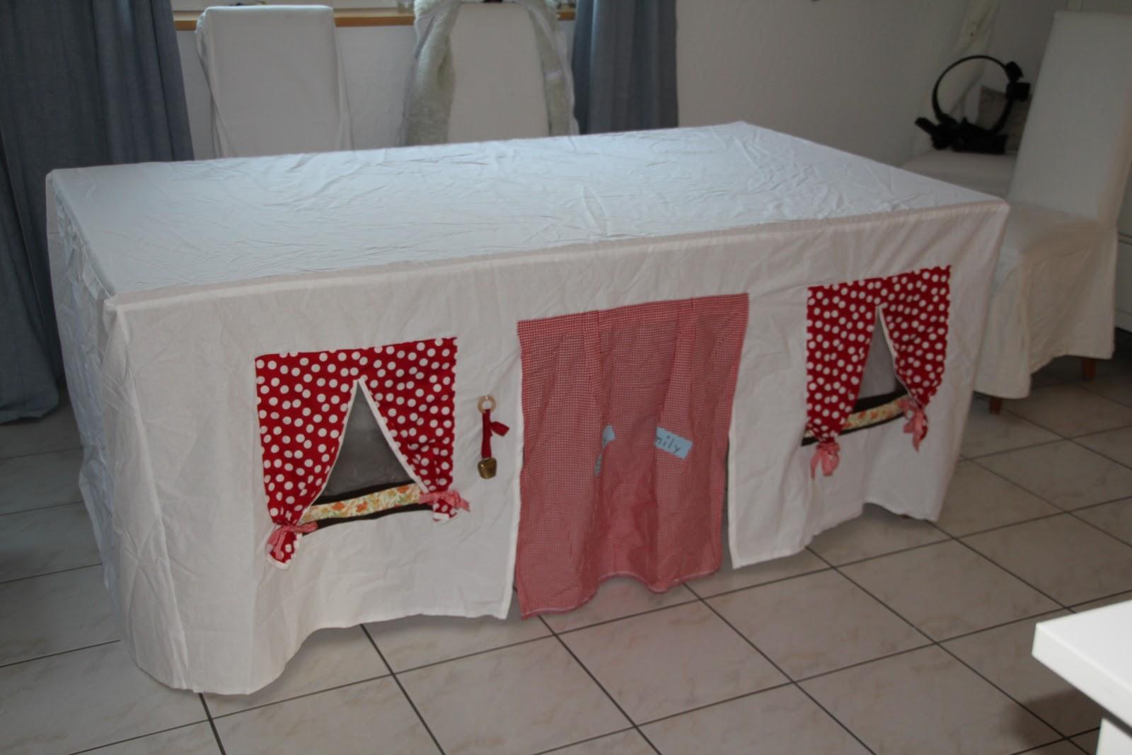Kinderhütte für Küchentisch | Stoeffkreationen mit Herz