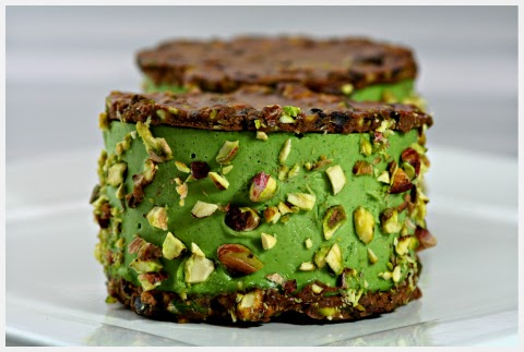 Picture of chocolate pistachio ice cream