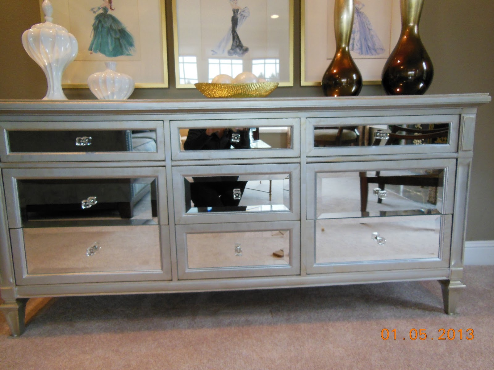 Create a home you love mirrored chest for How to make a mirrored nightstand diy
