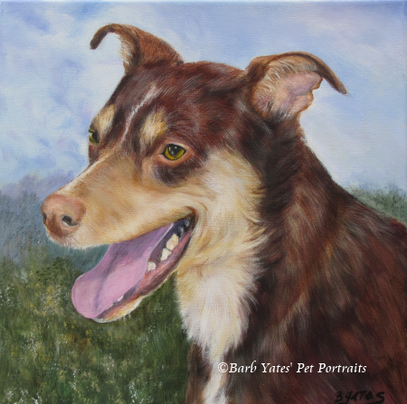 acrylic painting, Adoption Dog, pet portrait