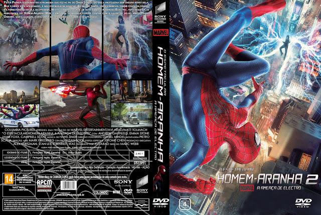 Capa DVD O Espetacular Homem-Aranha 2 A Ameaça De Electro