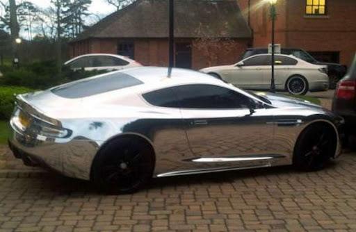Jermaine Pennant's shiny Aston Martin