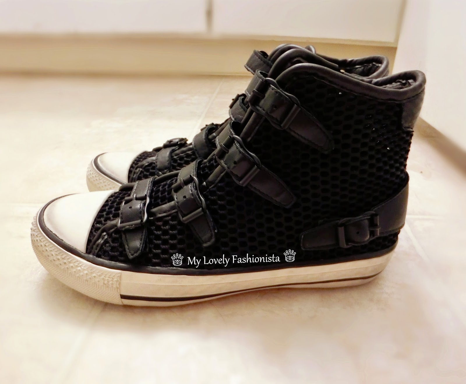 ash 39 vanessa 39 high top sneaker black my lovely fashionista. Black Bedroom Furniture Sets. Home Design Ideas