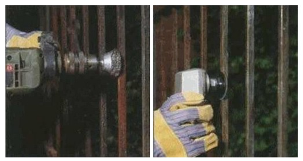 Инструменты для удаления ржавчины с решеток