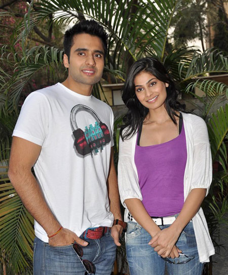 Jacky Bhagnani with co Star FALTU movie promotion