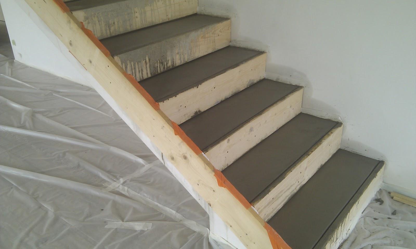 Ma maison bioclimatique escalier en b ton cir - Faire un escalier en beton cire ...