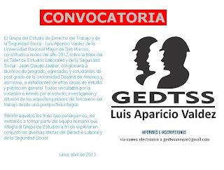 CONVOCATORIA  GEDTSS - 2013.