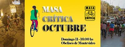 Bicicleteada Masa crítica de octubre (Obelisco de Montevideo, 11/oct/2015)