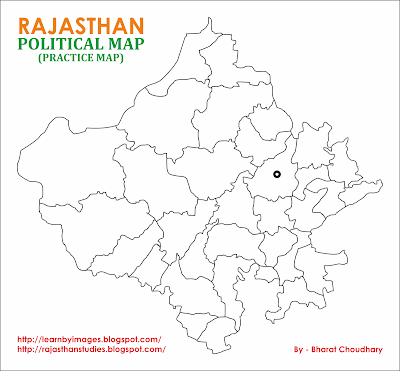 Learn by Images Rajasthan Political Map Blank Practice Map
