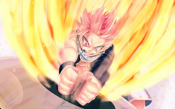natsu dragneel flame fairy tail anime hd wallpaper