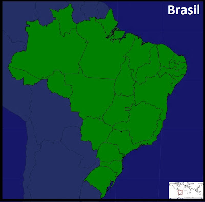 Mapa de los Estados de Brasil. Seterra