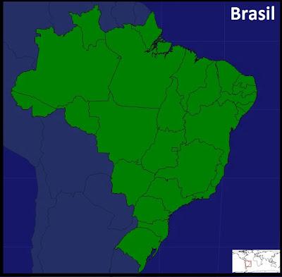 Mapa de los Estados de Brasil. Seterra