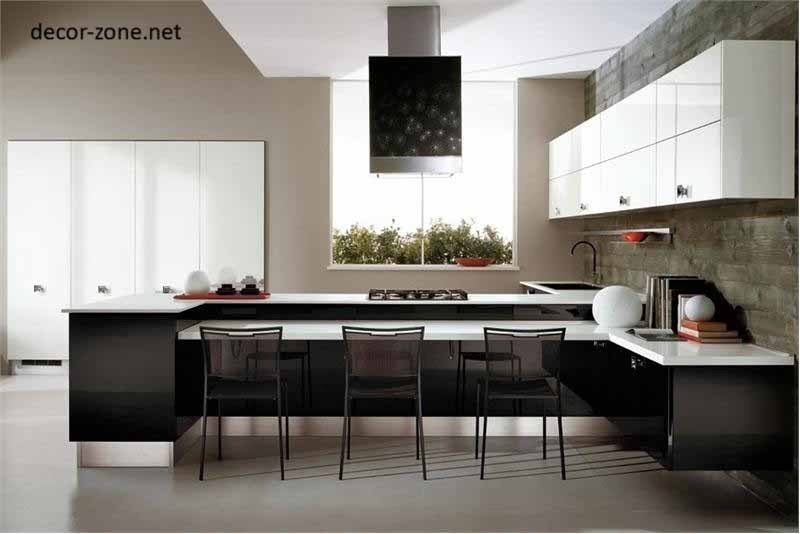 Black and white kitchen designs ideas tips for Kitchen designs black and white
