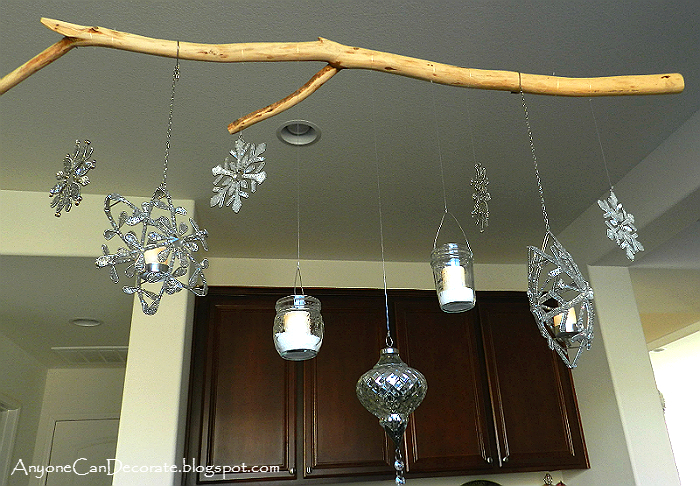 Anyone can decorate my diy christmas ornament chandelier this finished candle ornament chandelier is so sparkly and pretty i love it aloadofball Choice Image