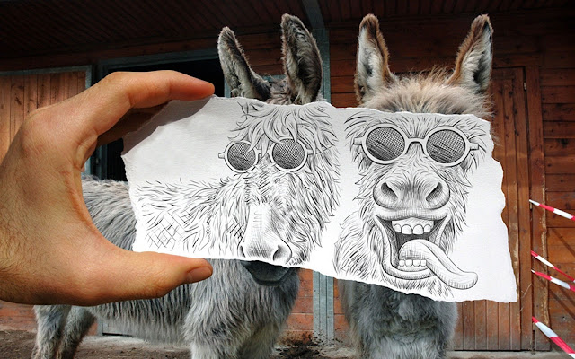 Pencil Vs Camera / art by Ben Heine