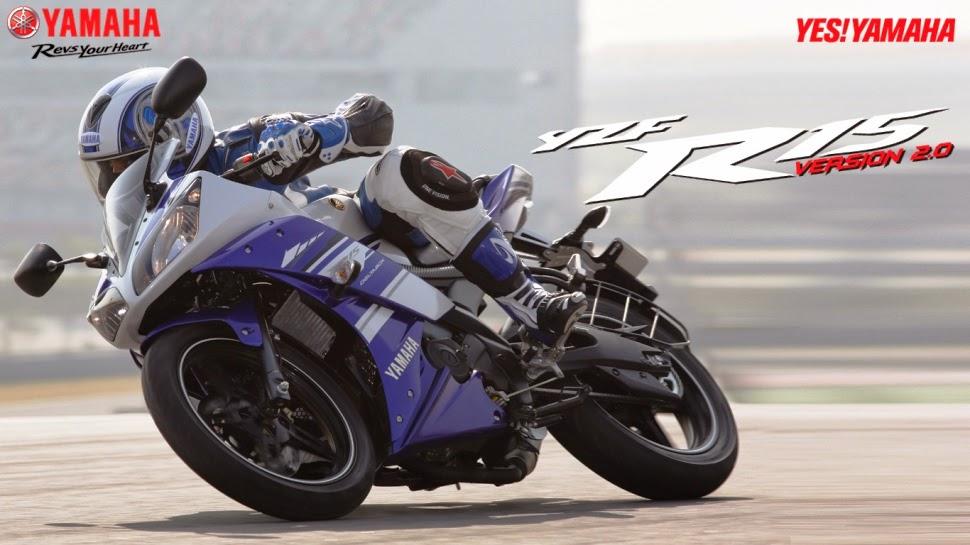 Yamaha India resmi rilis warna dan striping baru Yamaha YZF R15 V2 2014 . . bukan V3 !