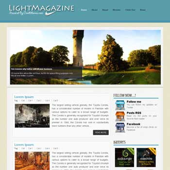 Light Magazine blogger template. template blogspot free. download template blogger for free