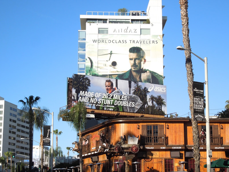 Asics no stunt doubles billboard