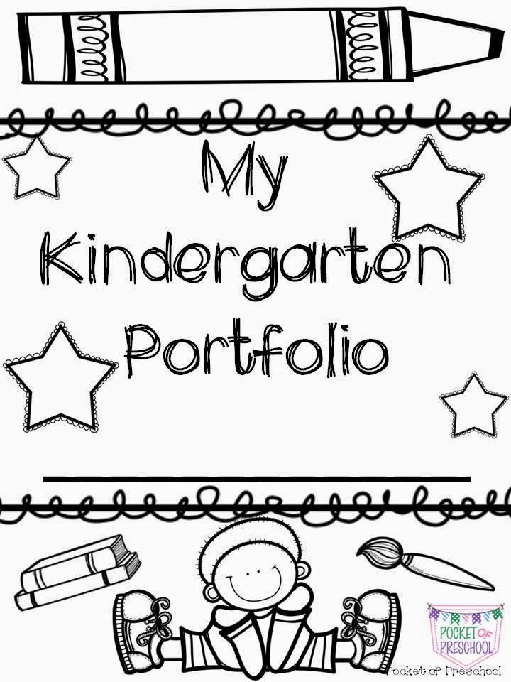 Kindergarten Portfolio Cover Page Sketch Coloring