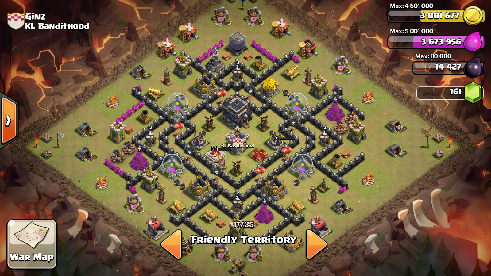 New coc th9 best war base anti gohog 2016 release reviews and models
