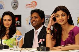 Preity, Lalit, Shilpa at IPL 3 Player Auction