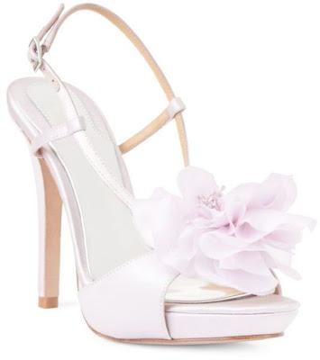 Badgley mischka lilac bridal shoes