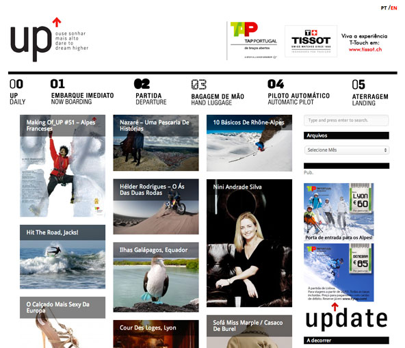 Up-magazine metro UI website