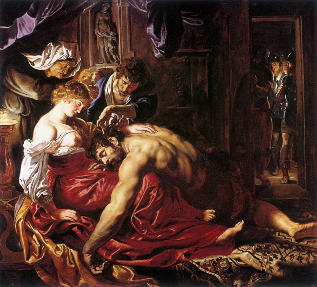 """Picture of """"Samson and Delilah"""" by Peter Paul Rubens, 1609-1610"""