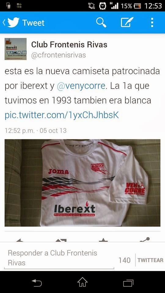 Nueva camiseta club frontenis Rivas