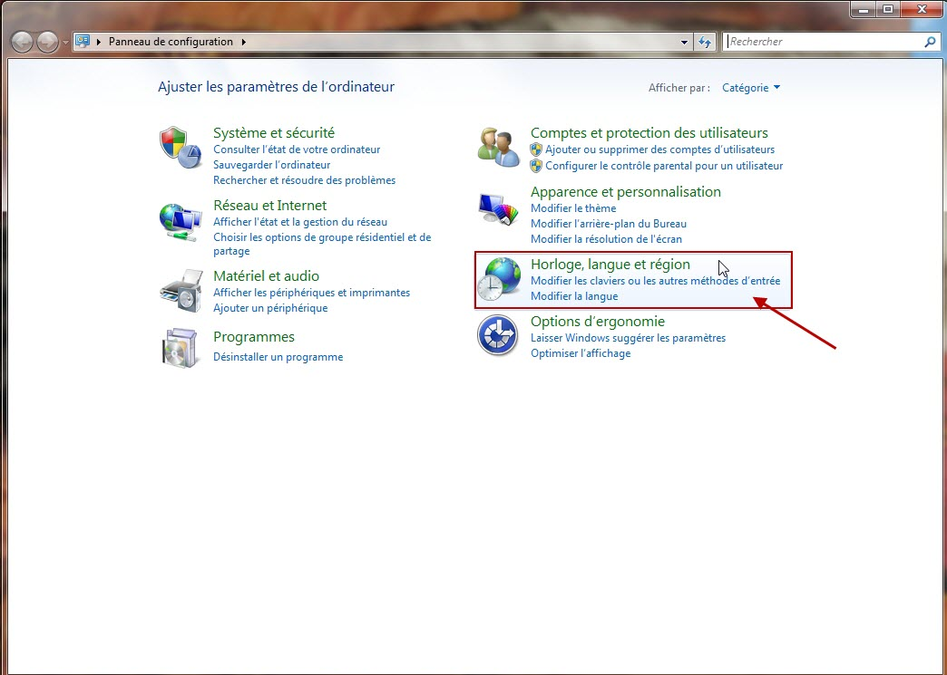 comment mettre windows 7 anglais en francais